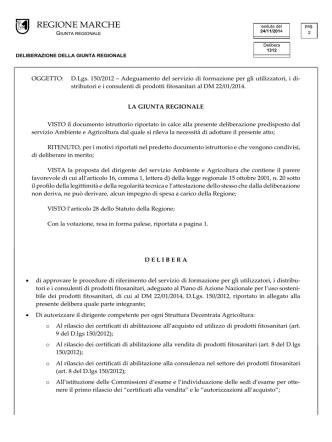 D.G.R. 1312 del 24/11/2014