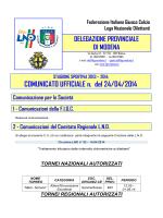 COMUNICATO UFFICIALE n. del 24/04/2014