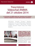 Trascrizione Videochat ANIMA del 21 ottobre 2014
