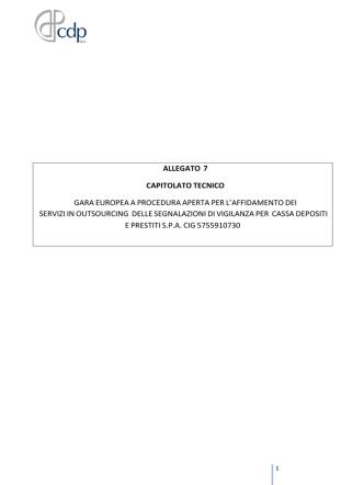 Allegato 7 - Capitolato tecnico