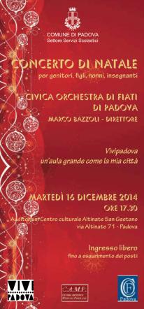 concerto natale 2014 - 6° Istituto Comprensivo Padova