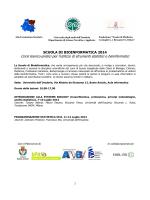 SCUOLA DI BIOINFORMATICA 2014-1