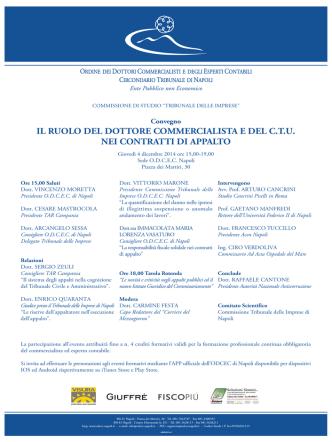 4 dicembre ruolo DC e CTU locandina.FH11