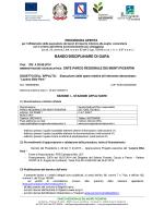 BANDO/DISCIPLINARE DI GARA - Parco Regionale Monti Picentini