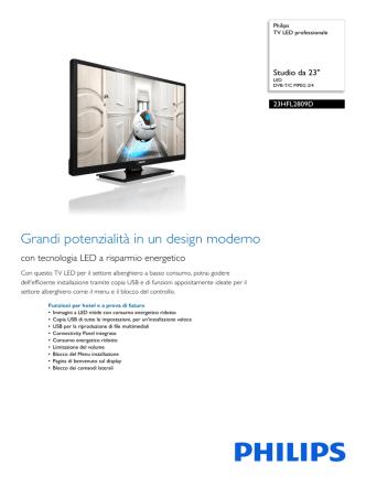 23HFL2809D/12 Philips TV LED professionale