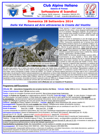 APUANE - Traversata: Val Renara