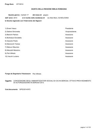Delibera di GR n. 877 del 17/06/2014