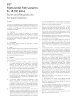 Rules and Regulations for participation