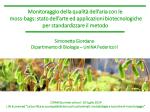 Biomonitoring of Environmental Quality - Prof. S. Giordano