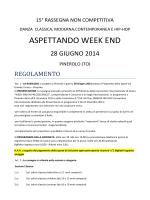 ASPETTANDO WEEK END - Weekend in palcoscenico