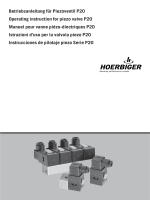 Betriebsanleitung für Piezoventil P20 Operating