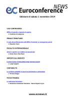 Edizione di sabato 1 novembre 2014
