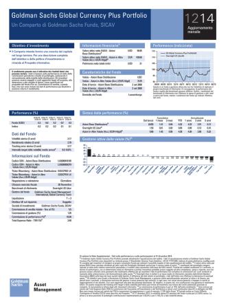 Aggiornamento mensile sui fondi