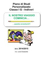 Piano di Studi Personalizzato Classe IG