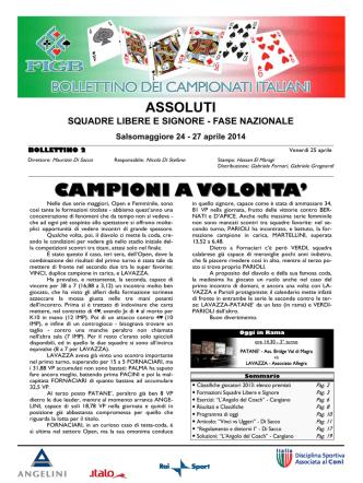 Bollettino n°2 - Federazione Italiana Gioco Bridge