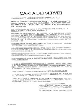 Carta medici associati in rete Samarate