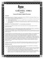 GARANZIA - EMEA