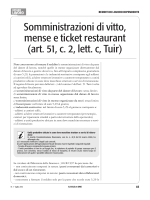 Somministrazioni di vitto, mense e ticket restaurant (art. 51, c. 2, lett