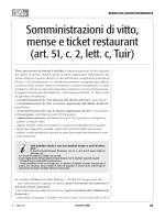 Somministrazioni di vitto, mense e ticket restaurant (art. 51, c. 2, lett