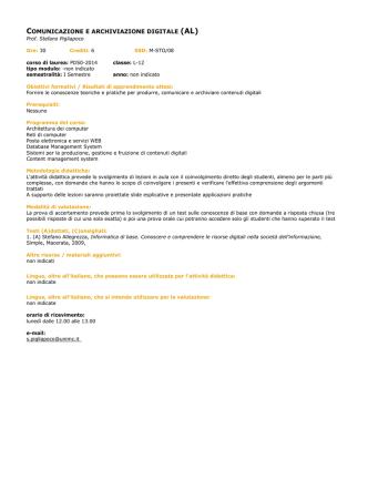 comunicazione e archiviazione digitale (al)