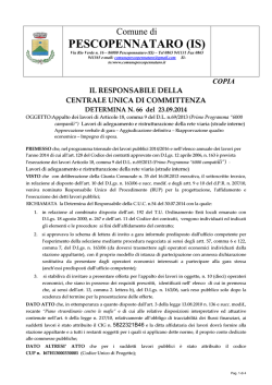 PESCOPENNATARO (IS) - Comune di Pescopennataro