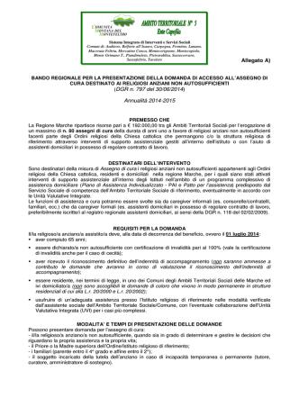 bando ATS - Comune di Macerata Feltria