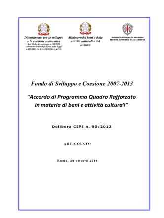 APQ SABC - SardegnaProgrammazione