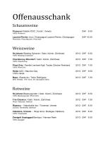 Offenausschank