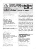 domenica 8 giugno 2014 - Parrocchie di Sondrio