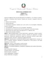 VERBALE N. 7 del 18 febbraio 2014 - Consiglio di Presidenza della