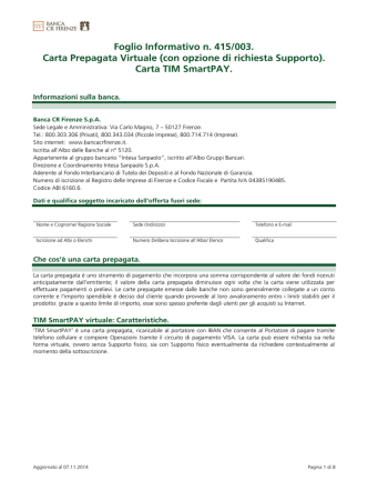 Carta TIM SmartPAY.