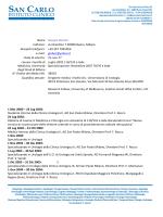 Scarica il CV - SAN CARLO Istituto Clinico