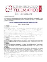 TASI – 100 CASI RISOLTI - Il Commercialista Telematico