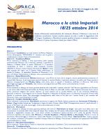 Marocco e le città Imperiali 18/25 ottobre 2014