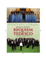 Requiem TEDESCO Johannes Brahms
