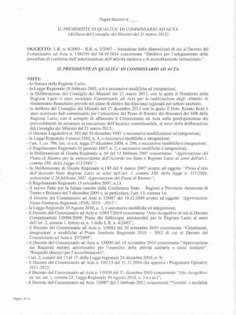 Decreto n. U00372 del 12 novembre 2014