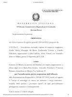 Ordinanza TAR Lombardia 1131 24 ottobre 2013