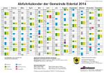 Abfuhrkalender der Gemeinde Edertal 2014