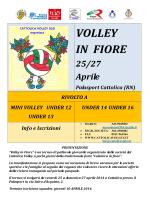 Locandina Volley in Fiore