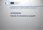 Schede di valutazione progetti - Fondi Europei 2007-2013