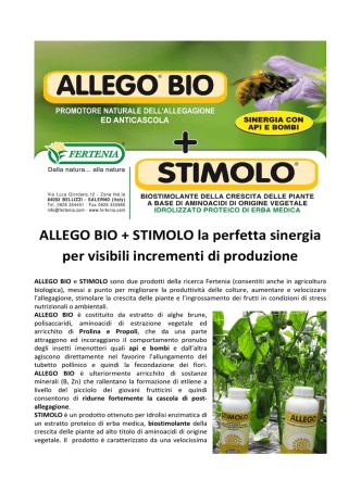 ALLEGO BIO + STIMOLO la perfetta sinergia per visibili