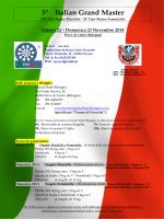 5° Italian Grand Master - FIGF Federazione Italiana Gioco Freccette