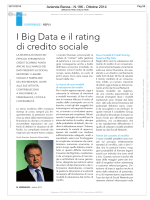 I Big Data e il rating di credito sociale