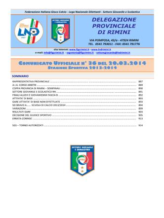 CU 36... - F.I.G.C. Rimini