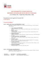 Programma - Malattie Rare Sardegna