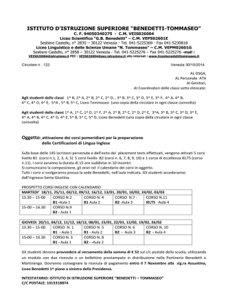 Circolare_n122 - Liceo Scientifico G.B. Benedetti