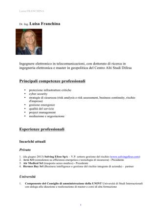 CV Luisa Franchina gen 2014 sapienza