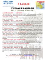 VIETNAM E CAMBOGIA FEBBRAIO 2015