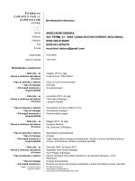 Curriculum - Debora Marchiori