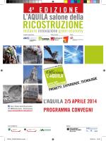 programma convegni - Salone della ricostruzione